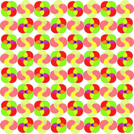 circles seamless abstract pattern, art illustration Vector