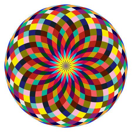 beautiful rozette, abstract art illustration Stock Vector - 6384023