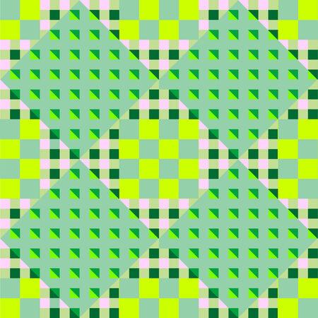 geometric green seamless pattern, abstract art illustration 向量圖像