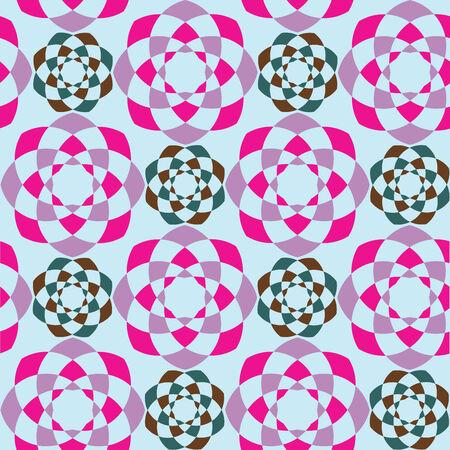 abstract geometric seamless pattern, art illustration Vector