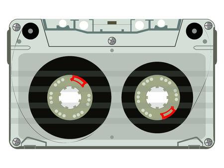 audio tape, abstract art illustration 向量圖像