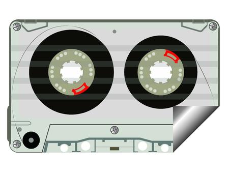 audio tape label, abstract art illustration