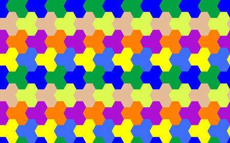 tiled seamless surface, abstract pattern,  art illustration Stock Vector - 6496435