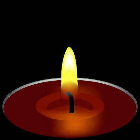 paraffin: one candle composition, abstract art illustration