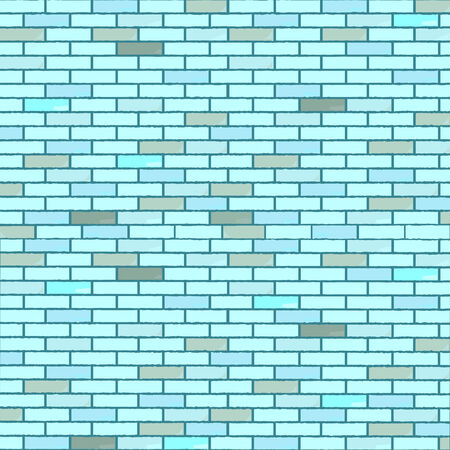 blue seamless bricks wall, abstract texture,  art illustration Stock Vector - 6496455