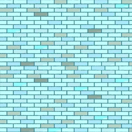 blue seamless bricks wall, abstract texture,  art illustration Stock Vector - 6496455