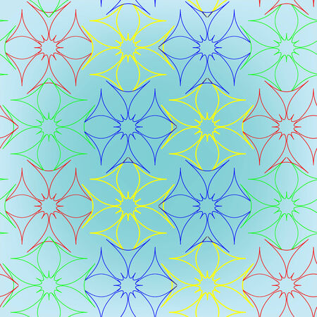 abstract seamless flowers pattern, Stock Vector - 6570320