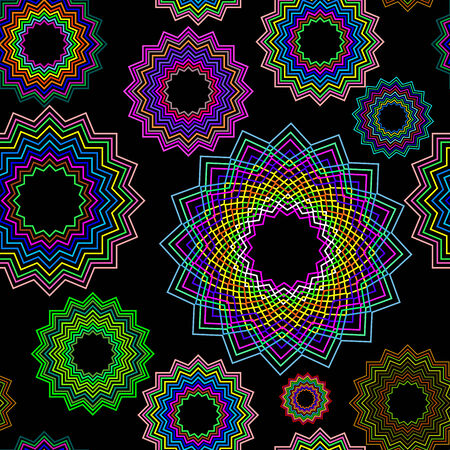seamless geometric pattern, abstract texture, art illustration Vector