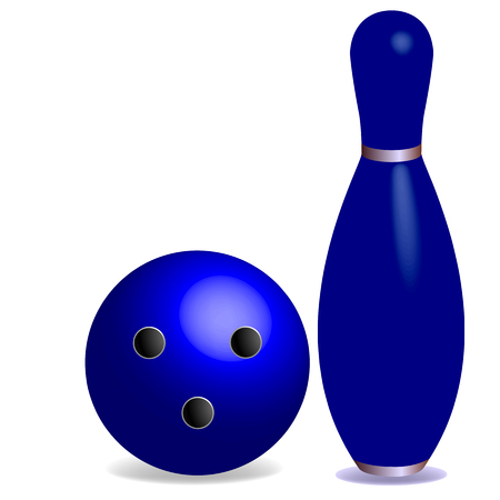 ten pin bowling: bowling concept, with room for text, abstract art illustration