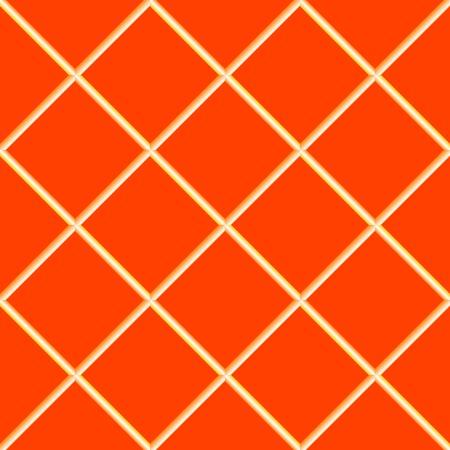 orange seamless ceramic tiles, abstract texture, art illustration Vector