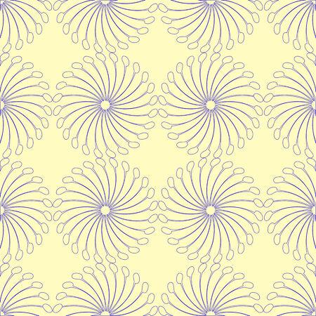 interesting blue seamless pattern, abstract texture, art illustration