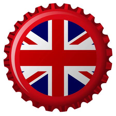 united kingdom stylized flag on bottle cap Stock Vector - 6733357