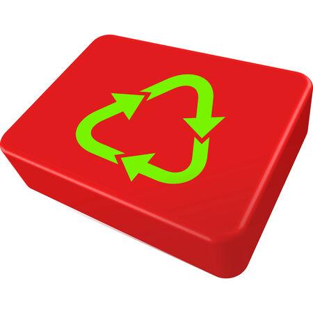 kompost: Recycle rot-Feld  Illustration
