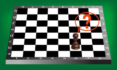 pown and chess board Иллюстрация