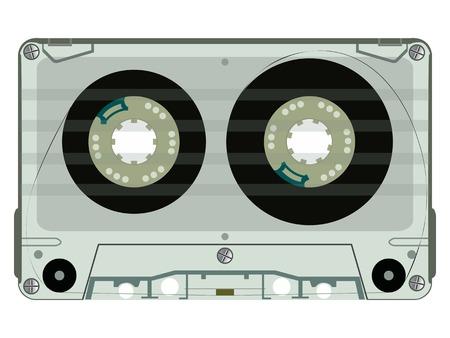 audio tape casette Vector