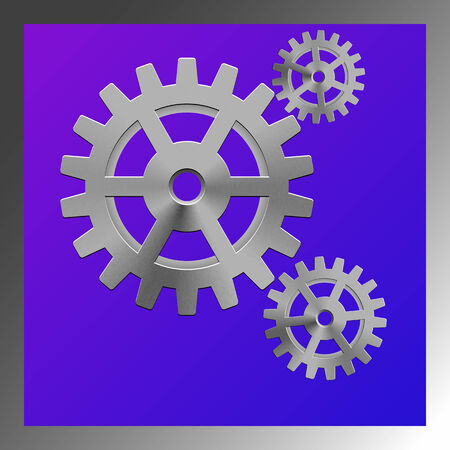 meshed: gear box composition Illustration