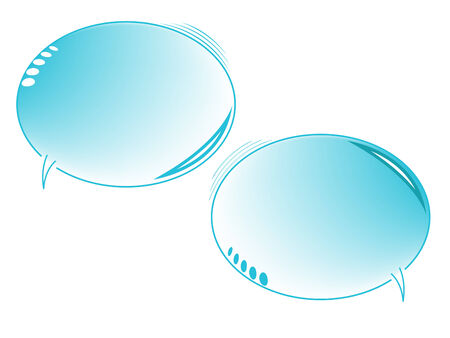 blue text bubbles Stock Vector - 6776220