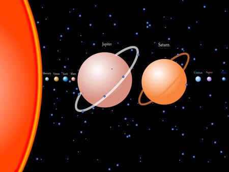 solar system, abstract art illustration Stock Vector - 6846113