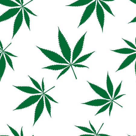 ganja: cannabis seamless pattern, abstract texture, art illustration