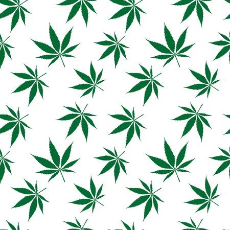 ganja: cannabis seamless pattern �tendu, texture abstraite, art illustration Illustration