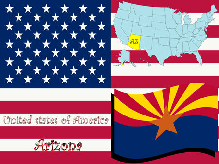 arizona state illustration, abstract  art