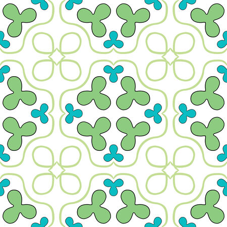 clover seamless texture, abstract pattern,  art illustration Stock Vector - 6976481