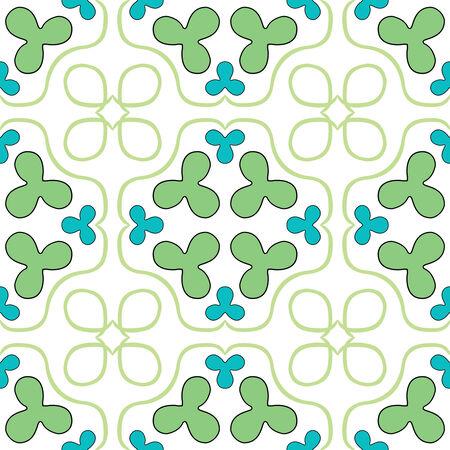 clover seamless texture, abstract pattern,  art illustration Stock Vector - 6976481