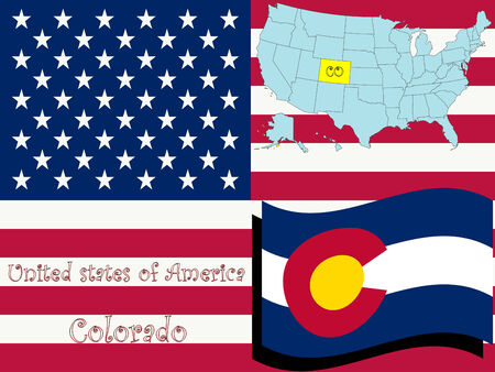 colorado state illustration, abstract  art