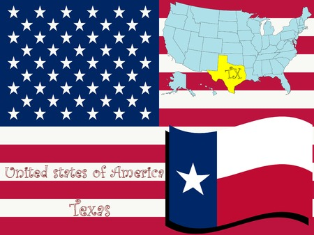 texas state illustration, abstract  art