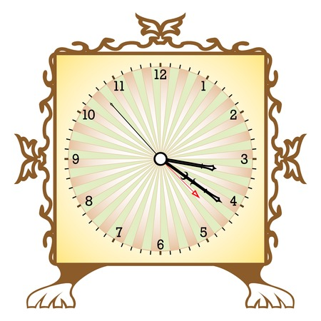 abstract clock against white background, art illustration