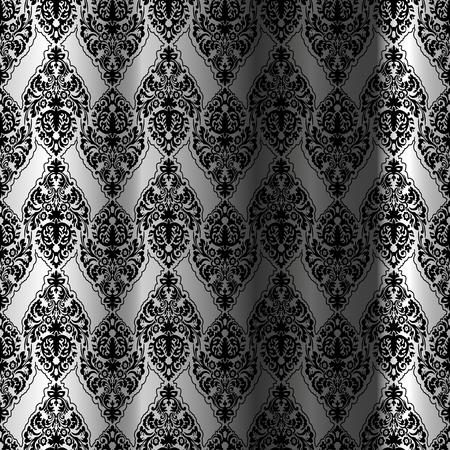 black seamless curtain, abstract pattern, art illustration Stock Vector - 7068585