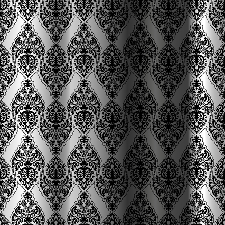 black seamless curtain, abstract pattern, art illustration