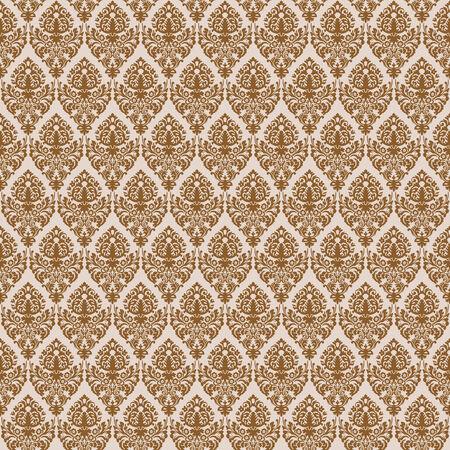 brown damask seamless texture, abstract pattern, art illustration Ilustrace
