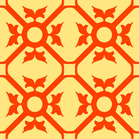 orange flowers seamless texture, abstract pattern,  art illustration