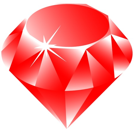 ruby gemstone: ruby against white background, abstract  art illustration