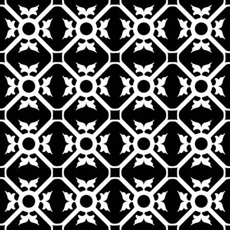 symmetrical flower pattern, abstract seamless texture,  art illustration Stock Vector - 7068313