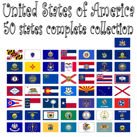 united states of america collection, abstract  art illustration Vector