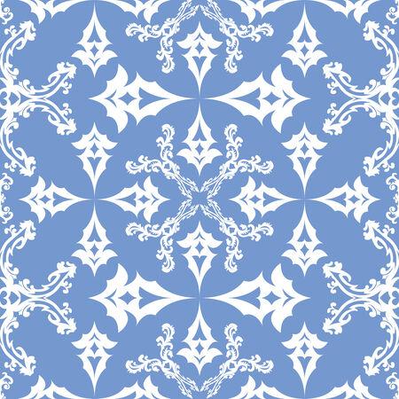 꽃 빅토리아 원활한 패턴, 추상 질감, 반복적 인 예술 그림 일러스트