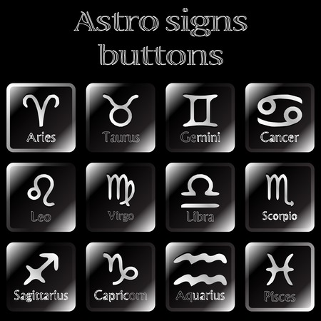 dark astro sign buttons Stock Vector - 7165621