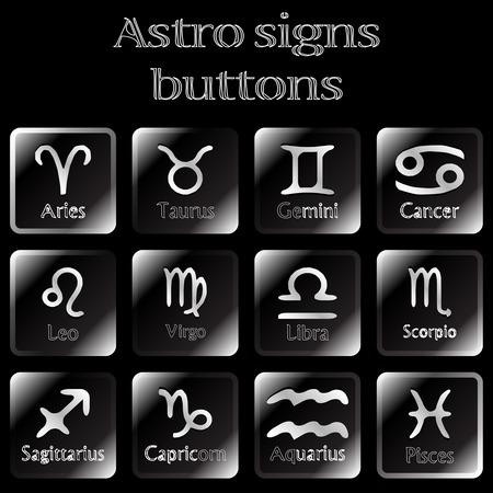 astro: dark astro sign buttons