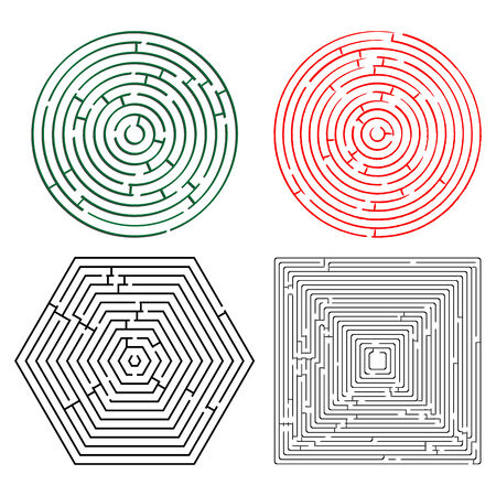 seeking solution: printable mazes collection against white background