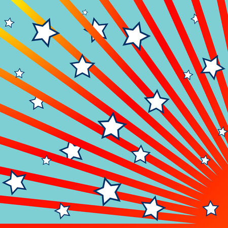 stripes and stars background Stock Vector - 7231544