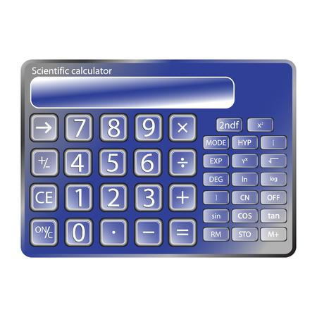 blue calculator against white background