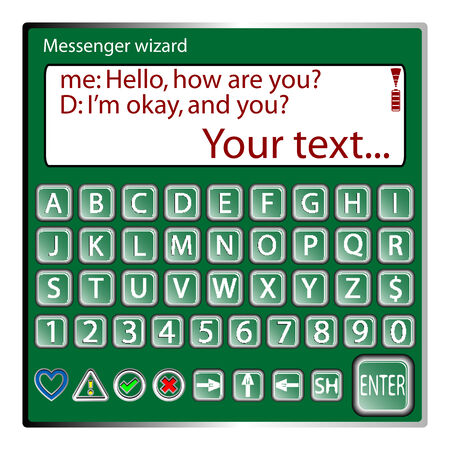 messenger wizard against white background Vectores