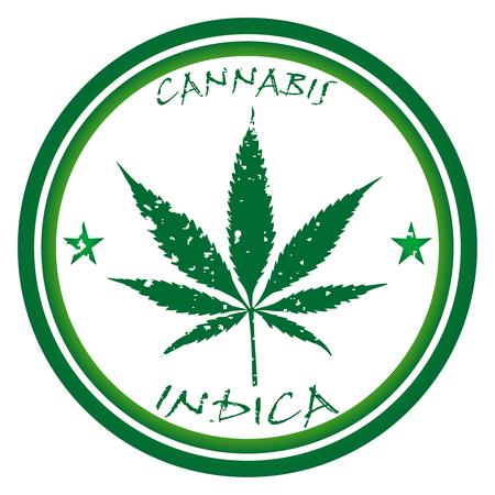 cannabis: Cannabis-Stempel gegen wei�en Hintergrund  Illustration