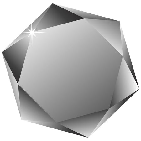 hexagonal diamond against white background