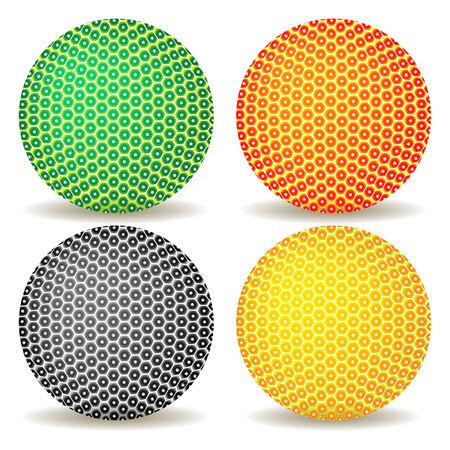 Bolas de colores sobre fondo blanco  Foto de archivo - 7231721