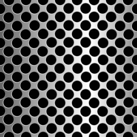 pavimento lucido: Cerchi metallici trama, astratto modello senza saldatura