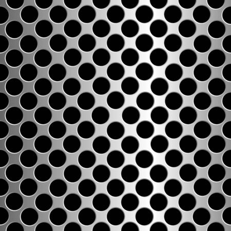metallic circles texture, abstract seamless pattern Stock Vector - 7231716