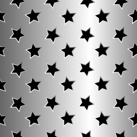 metallic stars texture, abstract seamless pattern Vector